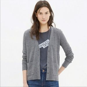 Madewell Grey Button Down Cardigan